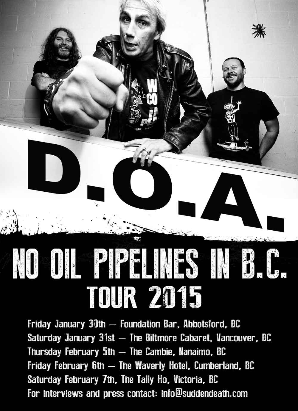 No Oil Pipelines in B.C. Tour 2015
