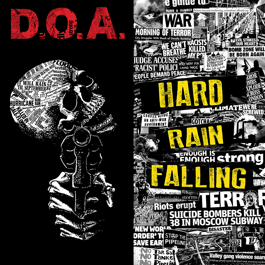 D.O.A. Hard Rain Falling CD Cover