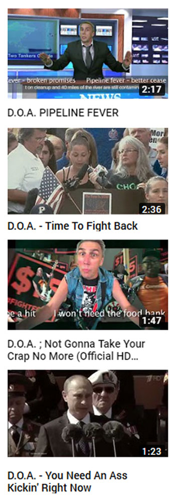 D.O.A. - Call To Action Videos