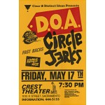 DOA and Circle Jerks Poster